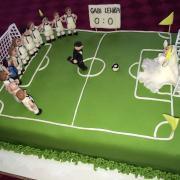 svadobná pre futbalistu