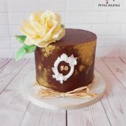 Čoko dortík s růží