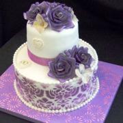 Torta Svadobná fialová