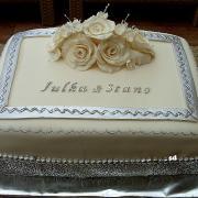 Torta svadobná v striebornom