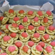 Citrónové koláčiky s lienkou a citrónovým krémom