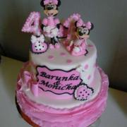 Torta Minnie pro sestřičky