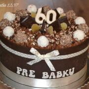 čokoládová k 60.narodeninám