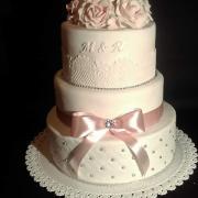 Torta Svadobná s ruzami