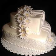 Torta Svadobná s margaretkami