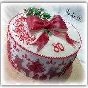 Torta Červená so sobíkmi