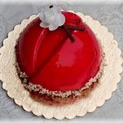 Torta malinový mirror