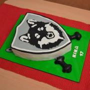 Torta Logo školy - vlk