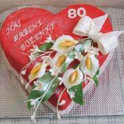 Torta Ovocné srdiečko kvety na želanie