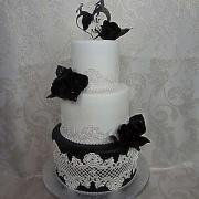 Torta svadobná bielo-čierna
