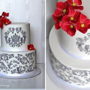 Torta Black, red, white..