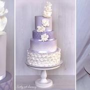 Torta Svadobná lila + cupcakes