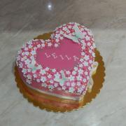 Torta Srdiečko pre Leilu