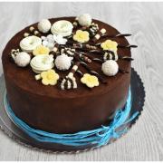 Torta Ganážová tortička s čoko ozdobami