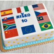 Torta Tortička s vlajkami podľa želania
