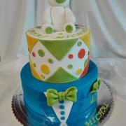 Torta Dvoj torta  Na krstiny a zároveň 40 - tka otecka