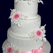 Torta Svadobná trojposchodová