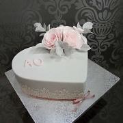 Torta narodeninové srdiečko