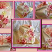 Torta TORTA NARODENINOVÁ s vodopádom kvetov - detaily