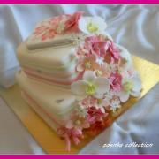 Torta TORTA NARODENINOVÁ s vodopádom kvetov