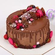 Torta Čokoládovo-ružová