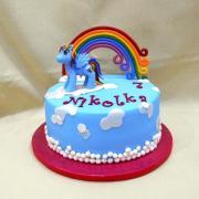 Torta Poník s dúhou