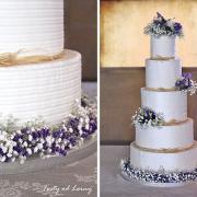 Torta Svadobná s levanduľkou