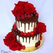 Torta Drip Cake s ružami