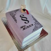 Torta Promočná kniha vo fialovom...