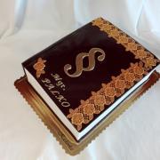 Torta Promočná kniha v čokoládovo zlatom...