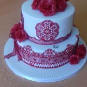 Torta Svadobna bielo-červena