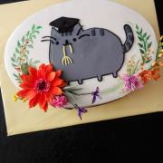 Torta Promočná s mačkou