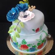 Torta Narodeninová malovaná