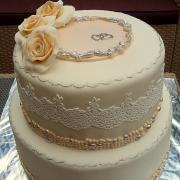 Torta svadobná s krajkou