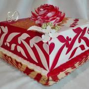 Torta Dezertík pre babičku v karmínovo červenom