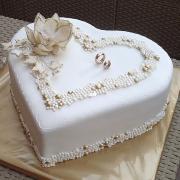 Torta svadobná v zlatom