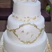 Torta svadobná bielo zlata