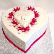 Torta Svadobné srdiečko
