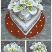 Torta svadobna s kalami