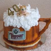 Torta Pivový pohár z babou ovocný