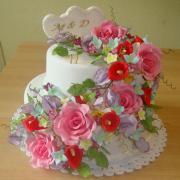 Torta kvetinová svadobná