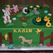 Torta detská so zvieratkami