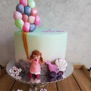 Torta dievčatko s balonmi