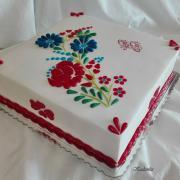 Torta Vyšívaná k výročiu dožitých 90 rokov