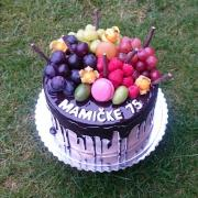 Torta Čokoladová tortička s ovocím 2