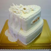 Torta svadobné srdcia