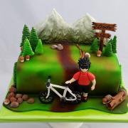 Torta Pre pána, ktorý má rád hory a bicykel :o)