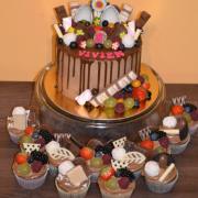 Torta detská mini tortička a muffiny