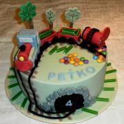 Torta vláčik s vysypaným nákladom