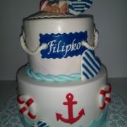 Torta krstinová námornícka